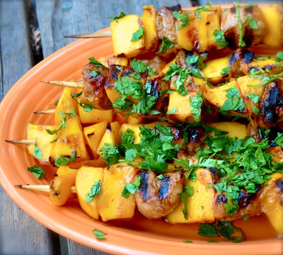 Pork and Mango Skewers