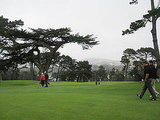 While waiting for a burger, one should take a look around. The exclusive Olympic Club is a gorgeous course — even on a cold foggy day.