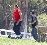 Tom Brady exercising in LA.