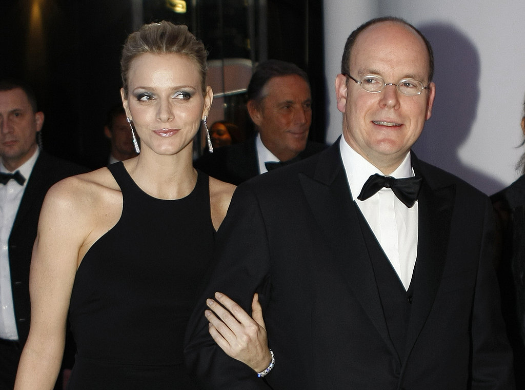 South Africa's Charlene Wittstock and Prince Albert pose before the 2009 FIA prize presentation gala in December 2009.