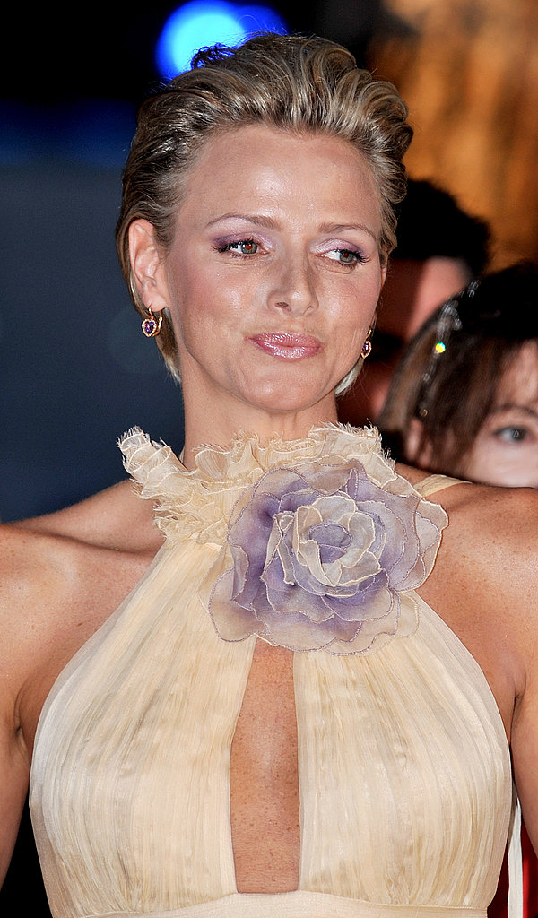 Princess Charlene bloomed at the 60th Monte Carlo Red Cross Ball in August 2008.