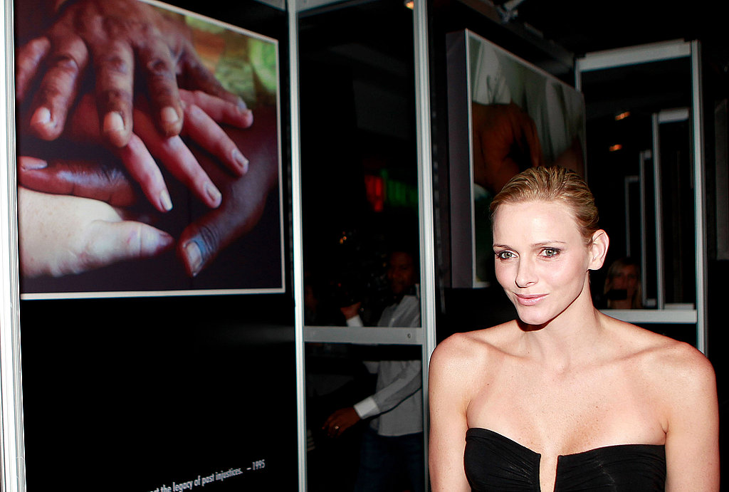 The then-future Princess of Monaco attended a launch for the Nelson Mandela Intimate Moments Exhibition in South Africa in February 2011. Source: Getty / Michelly Rall