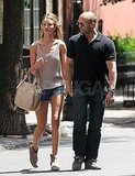 Rosie Huntington-Whiteley and Jason Statham were spotting holding hands in NYC.