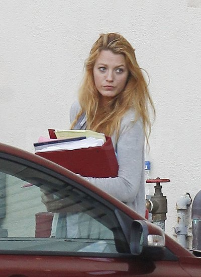 Blake Lively joined Salma and Benicio at a Savages meeting.