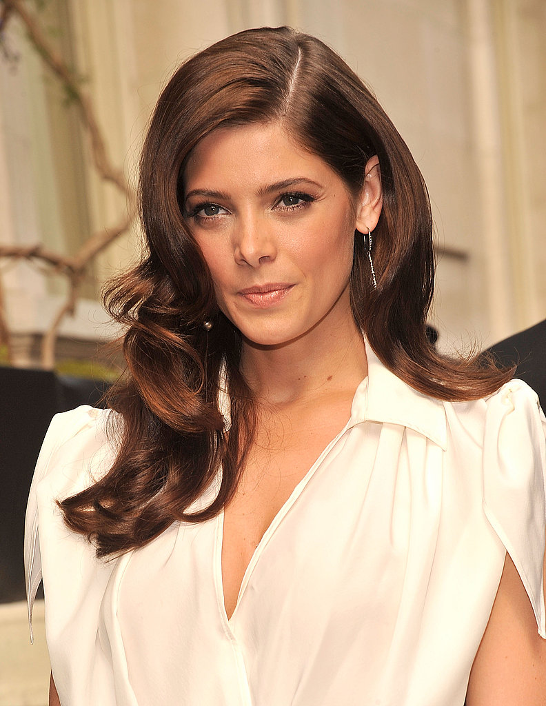 Ashley Greene wore white to Salvatore Ferragamo's resort show in NYC.
