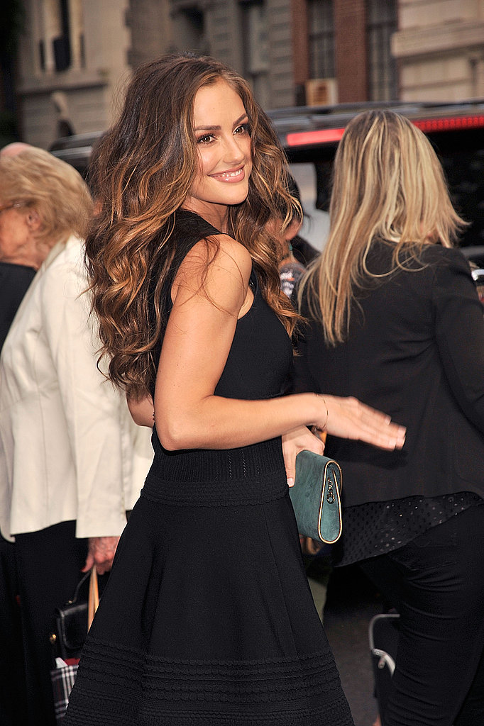 Minka Kelly attended the Salvatore Ferragamo resort show in NYC.