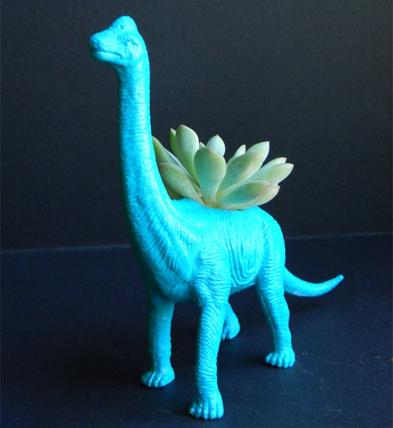 Dinosaur Planter With Succulent ($18)