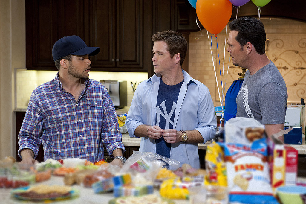 Jerry Ferrara as Turtle, Kevin Connolly as Eric Murphy, and Kevin Dillon as Johnny Drama, Entourage season eight.