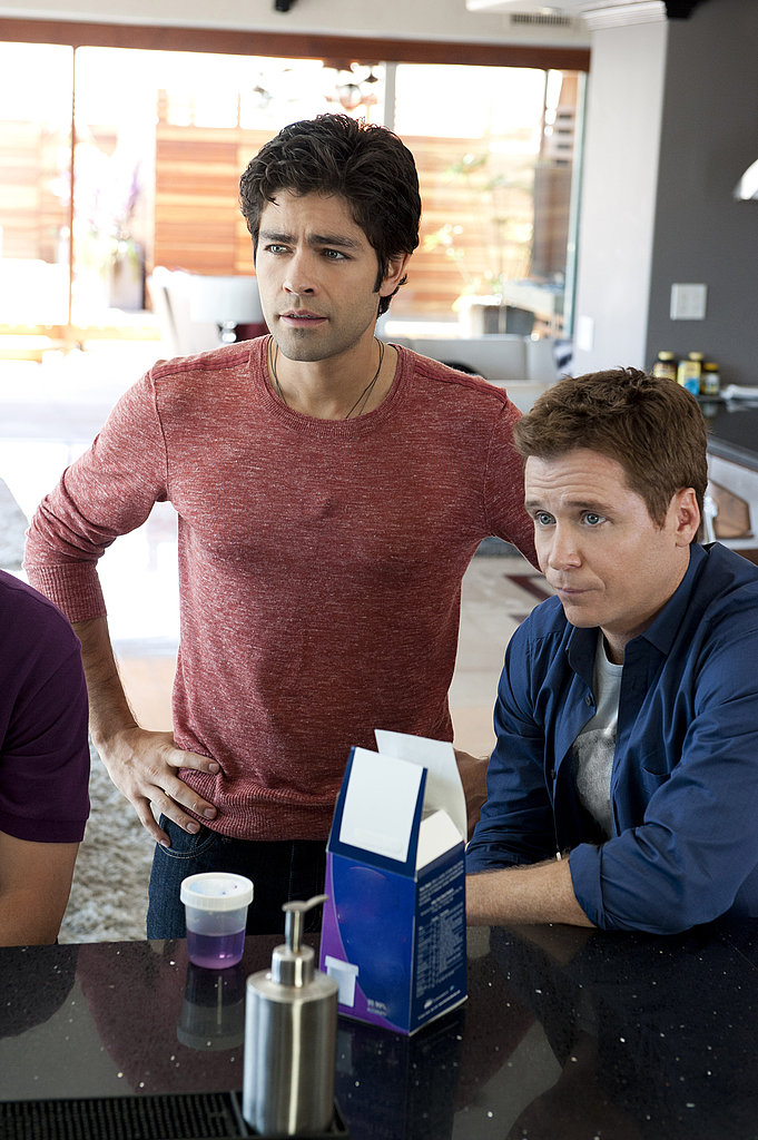 Adrian Grenier as Vincent Chase and Kevin Connolly as Eric Murphy, Entourage season eight.