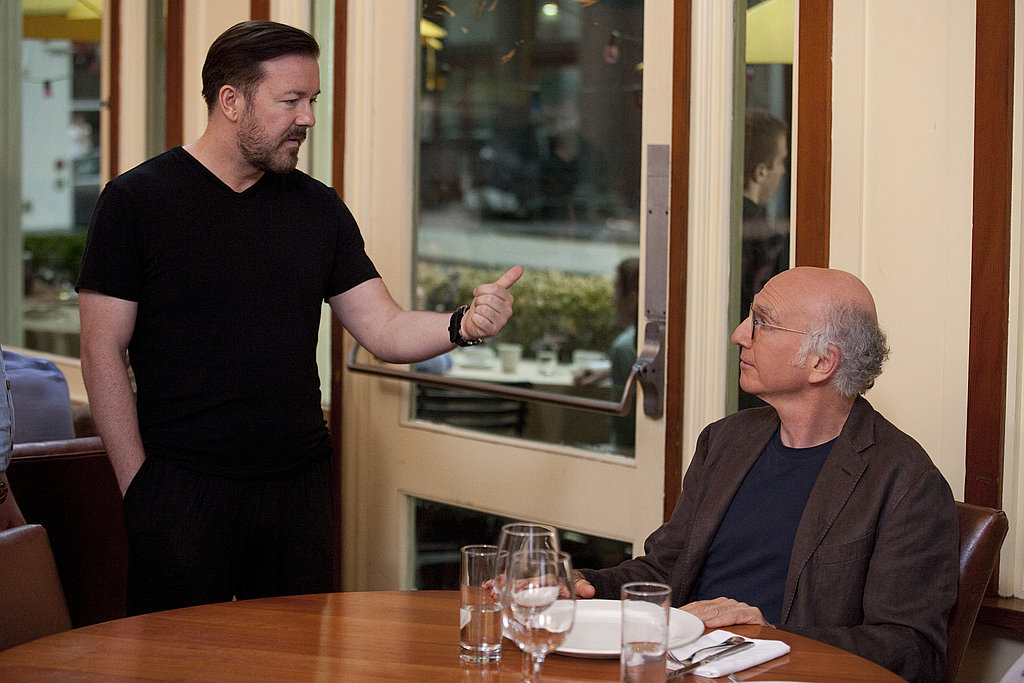 Ricky Gervais and Larry David, Curb Your Enthusiasm season eight.