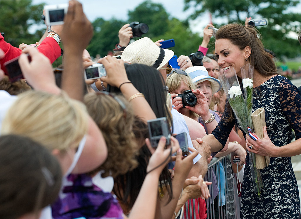 Kate Middleton smiled during her visit to Canada.