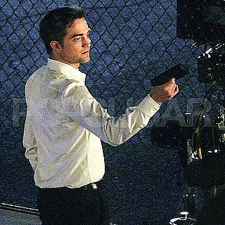 Robert Pattinson Pictures With a Gun on the Cosmopolis Set in Toronto