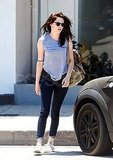 Kristen Stewart headed out of a yoga class.