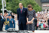 Kate Middleton and Prince William paid they respects in Canada.