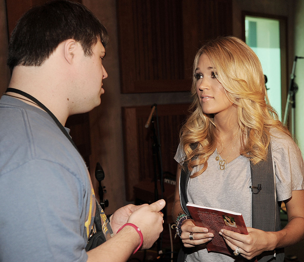 Carrie Underwood chats with a camper at the ACM Lifting Lives Music Camp.