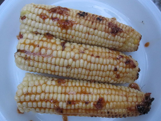 Grilled Corn With Maple and Chipotle