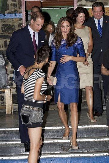 Prince William and Kate Middleton leave Maison Dauphine.
