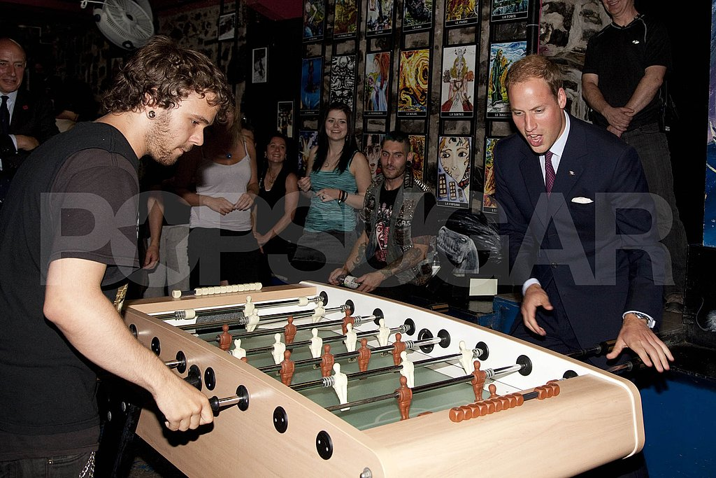 Prince William plays with at-risk youth at Maison Dauphine.