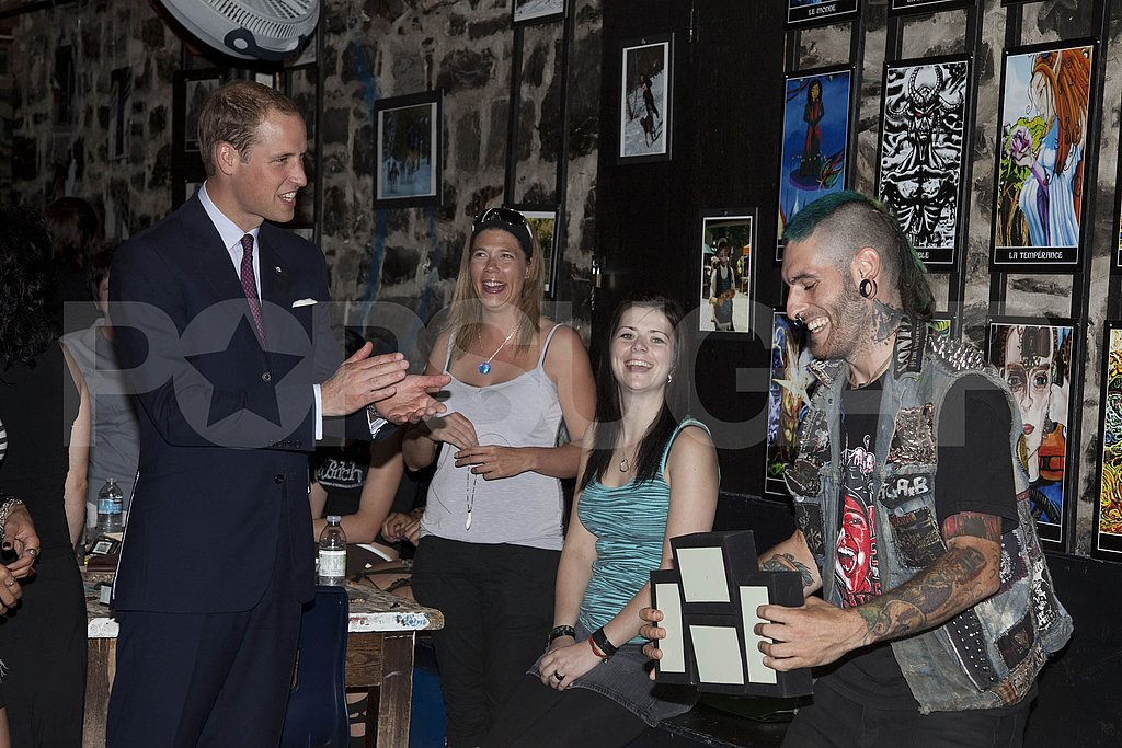 Prince William meets with at-risk youth at Maison Dauphine in Quebec City.