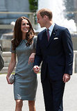 William and Kate exchange a look of love.