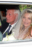 Kate Moss Wears a Veil on the Way to Marry Jamie Hince!