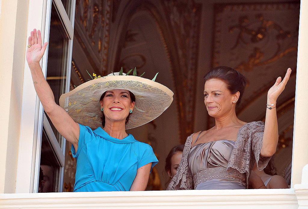 Princess Caroline of Hanover and Princess Stephanie of Monaco attend the civil ceremony of Princess Charlene of Monaco and Prince Albert II of Monaco.