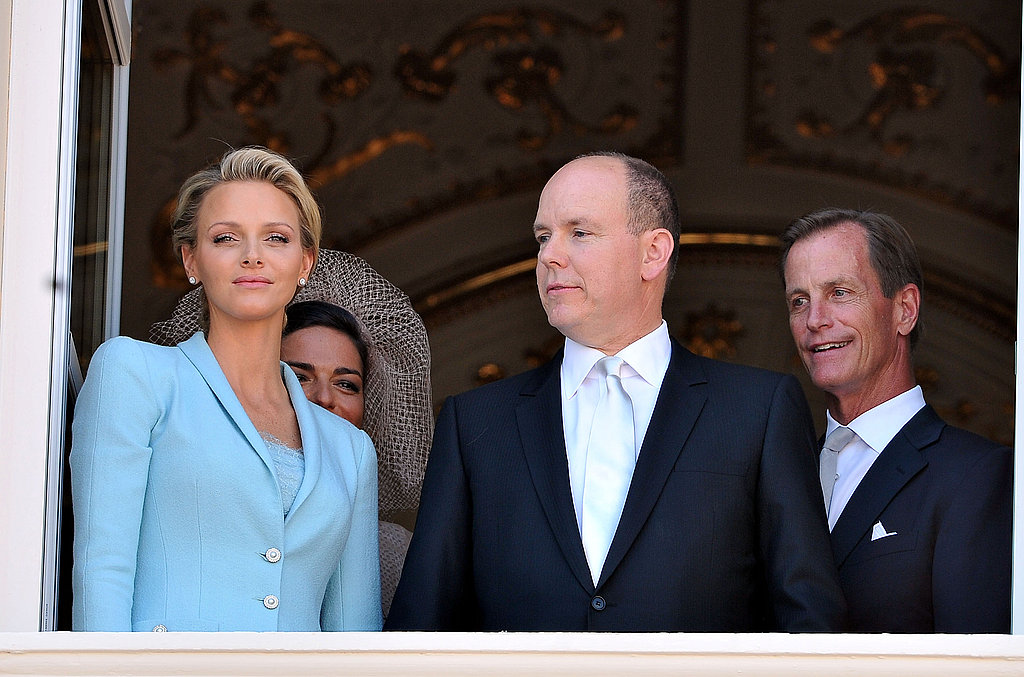 Princess Charlene of Monaco and Prince Albert II of Monaco are joined by their witnesses Donatella Knecht de Massy and Chris Le Vine.