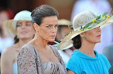 Princess Caroline of Hanover and Princess Stephanie of Monaco are present at the civil ceremony of Princess Charlene of Monaco and their brother, Prince Albert II of Monaco.