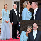 Charlene Wittstock and Prince Albert Balcony Kiss at Civil Ceremony Pictures