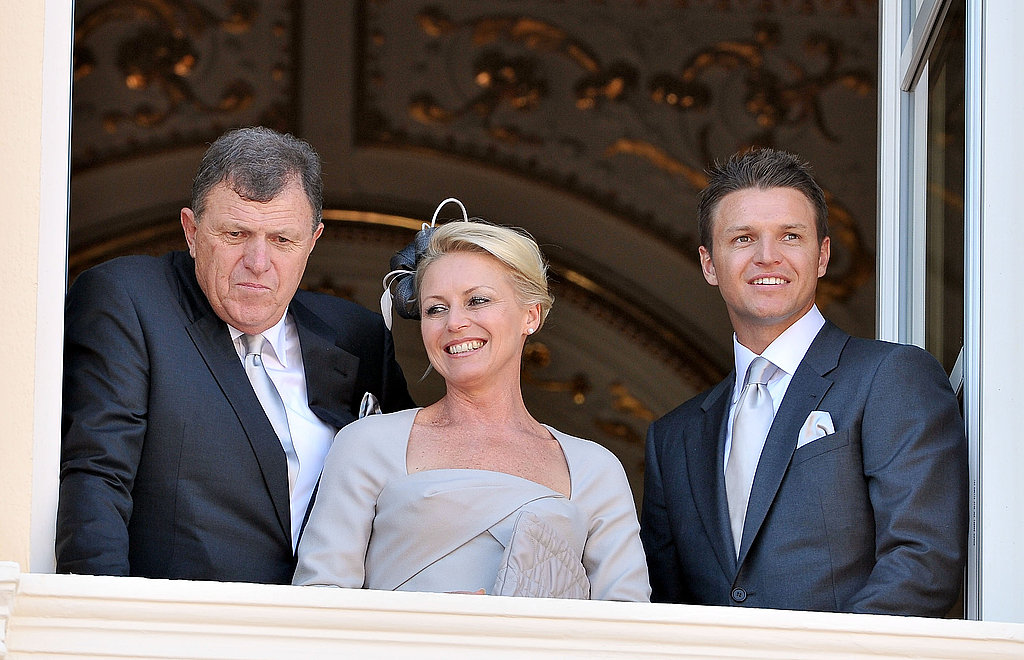 Princess Charlene of Monaco's family Michael Kenneth Wittstock, Lynette Wittstock, and Gareth Wittstock attend the civil ceremony.