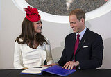 Kate Middleton and Prince William share a laugh.