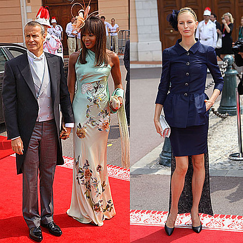Pictures of Naomi Campbell and Karolina Kurkova at the Monaco Wedding: Which Supermodel Was Best Dressed?