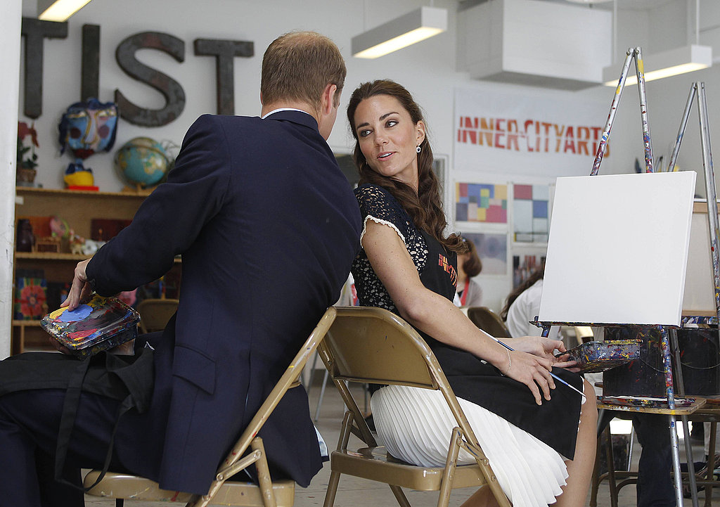 Kate Middleton and Prince William and Inner City Arts in LA.