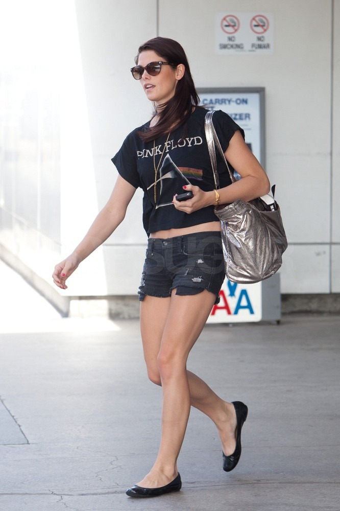 Ashley Greene picked up her car at LAX.