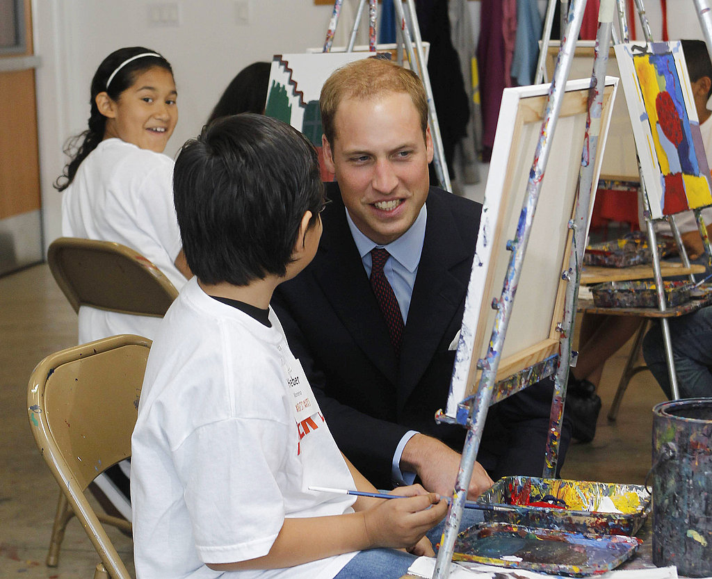 Prince William at Inner City Arts in LA.