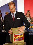 Prince William at a ServiceNation: Mission Serve event in LA.