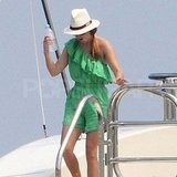 Princess Beatrice wearing green in St. Tropez.