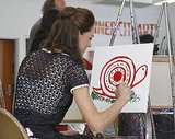 Kate Middleton paints at Inner City Arts in LA.
