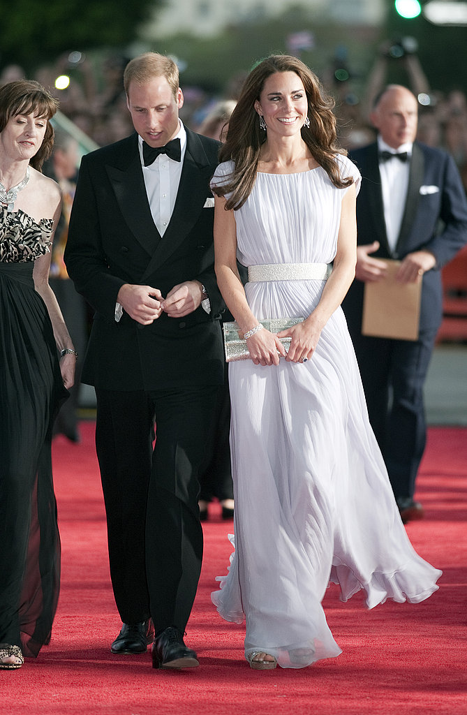 Kate Middleton was all smiles in Alexander McQueen at the BAFTA event.
