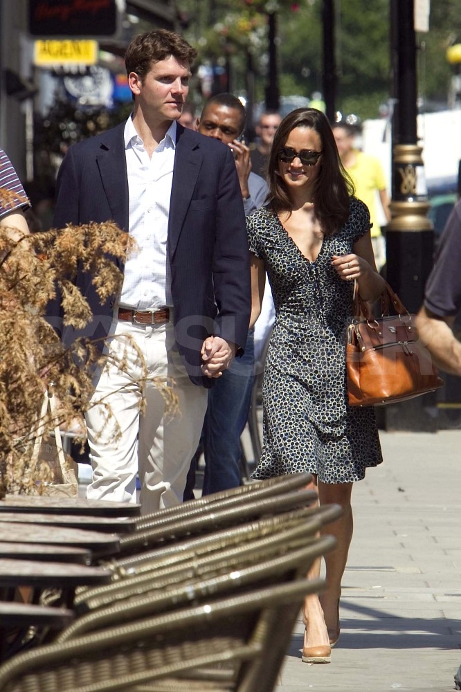 Pippa Middleton and Alex Loudon smiling in London.