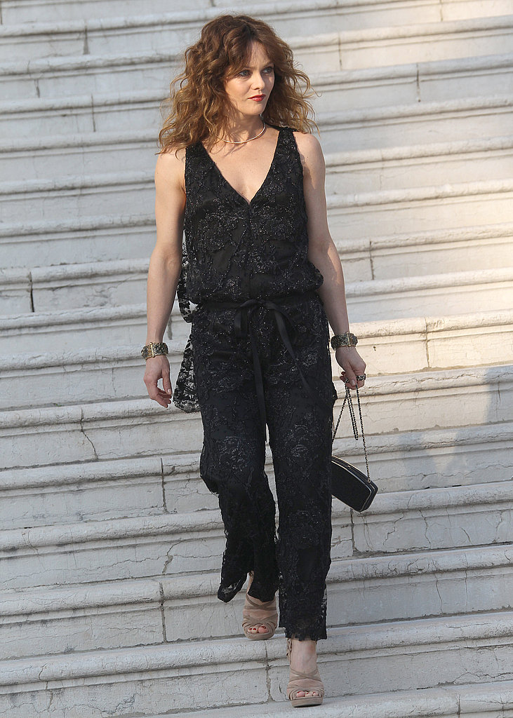 Vanessa Paradis turned up at the Chanel Resort 2012 show in May sporting a glitzy set.