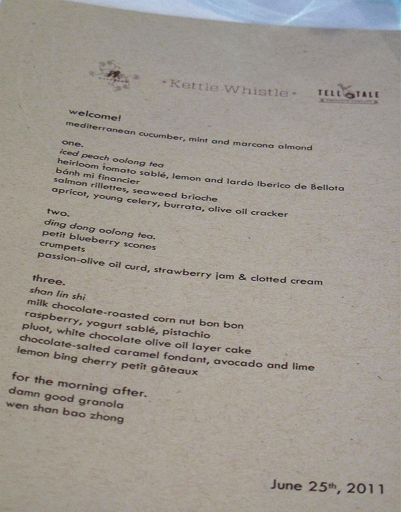 Kettle Whistle: The Menu