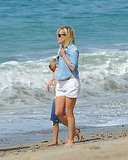 Reese Witherspoon's White Bikini Seems to Reveal a Bit of Tattooed Tummy!