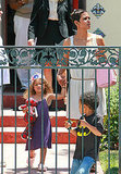 Halle Berry visited Nahla Aubry at school for a children's party.