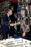 Prince William shook hands with a young man at Maison Dauphine.