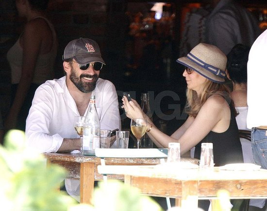 Jon Hamm and Jennifer Westfeldt Drink Up During a Sweet Day Date