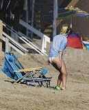 Reese Witherspoon on the Malibu beach.
