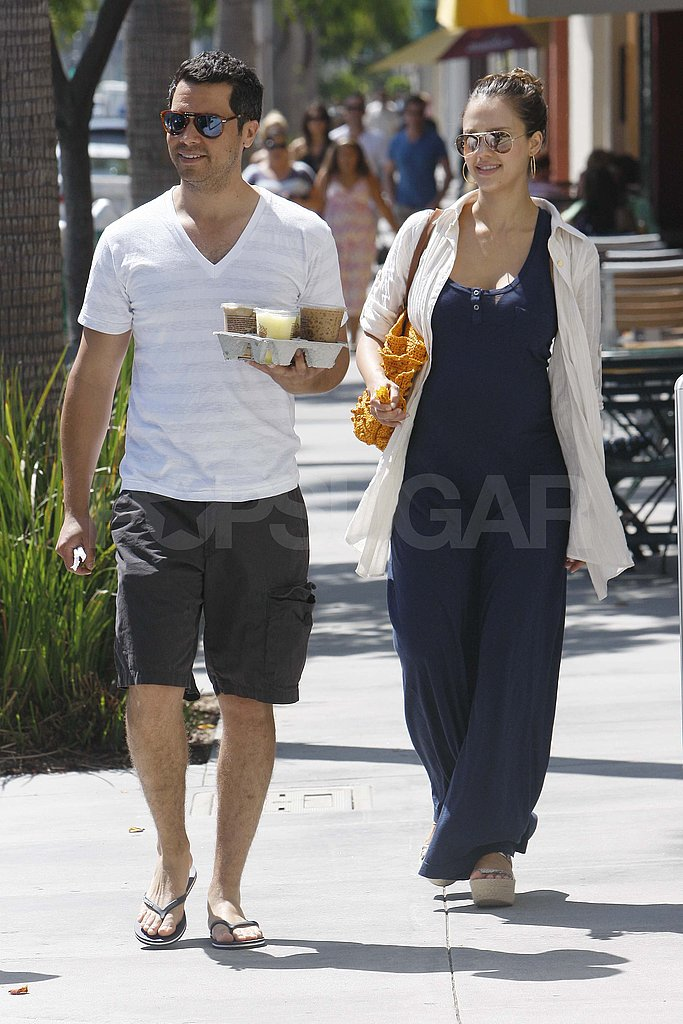 Jessica Alba and Cash Warren in Beverly Hills.
