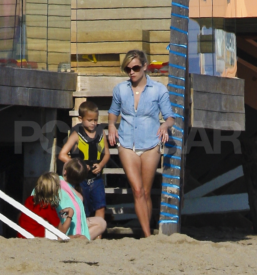 Reese Witherspoon hits the Malibu beach.