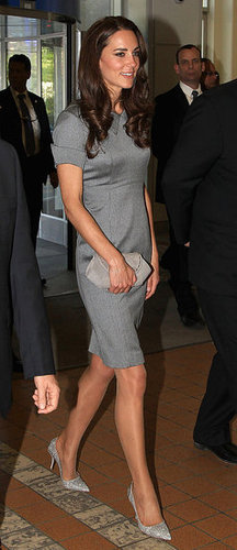 Kate Middleton wore gray on July 2, the second full day of her trip to Canada with Prince William.
